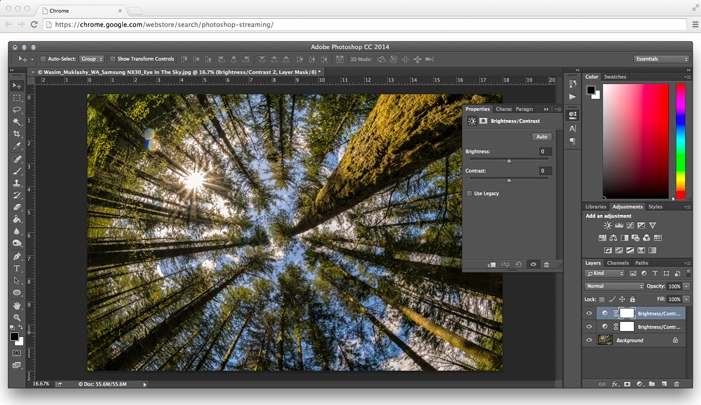 Photoshop para chrome