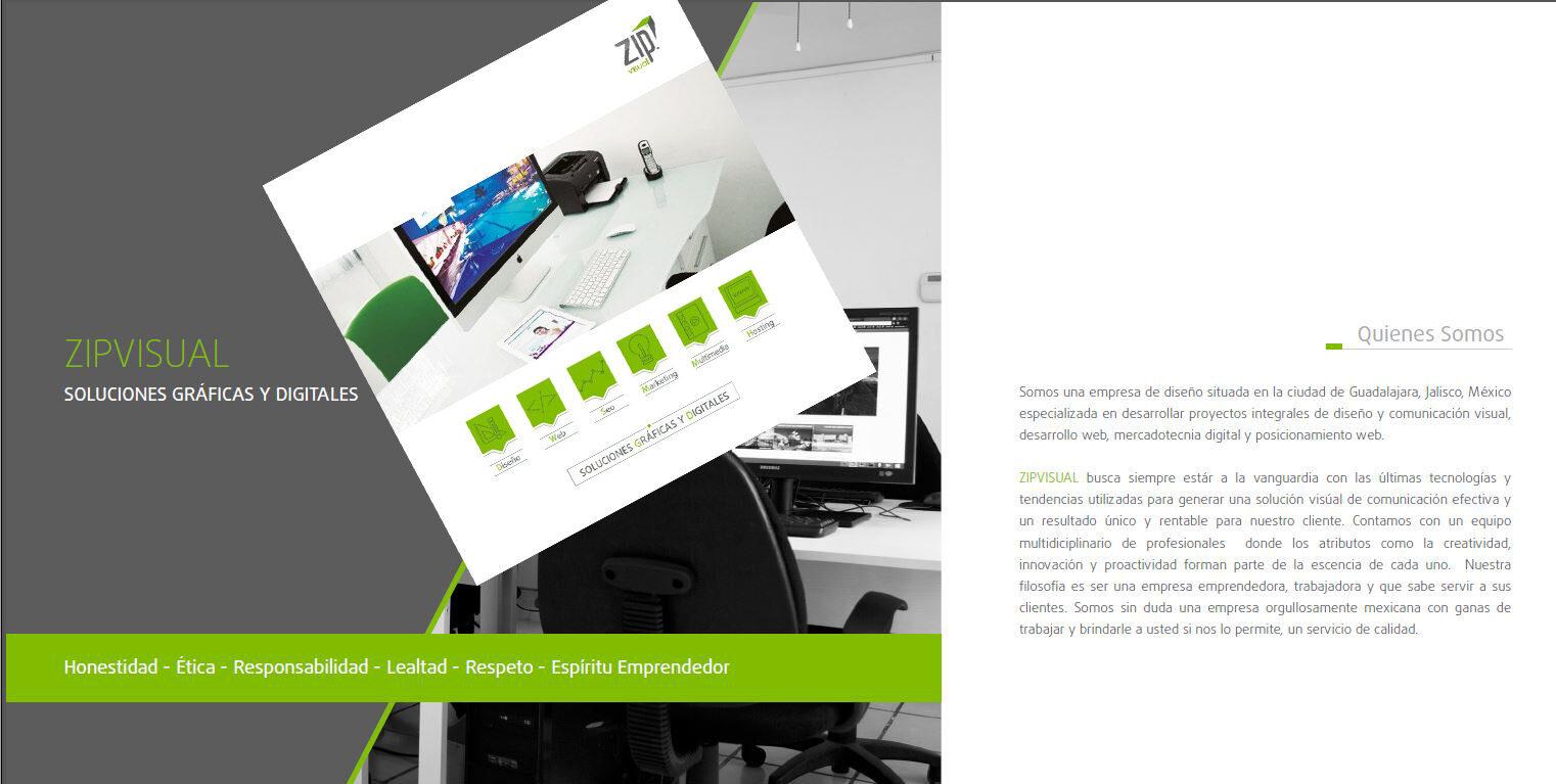 Brochure empresarial o de servicios
